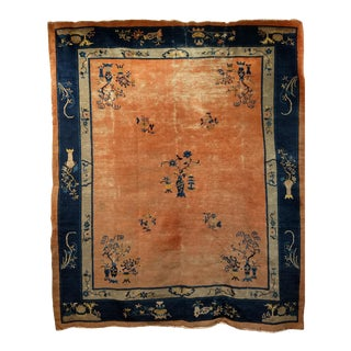 Late 19th Century Antique Chinese Peking Rug - 8′ × 9′5″ For Sale