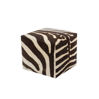 African Zebra Cube Ottoman For Sale