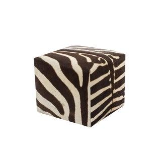 African Zebra Cube Ottoman