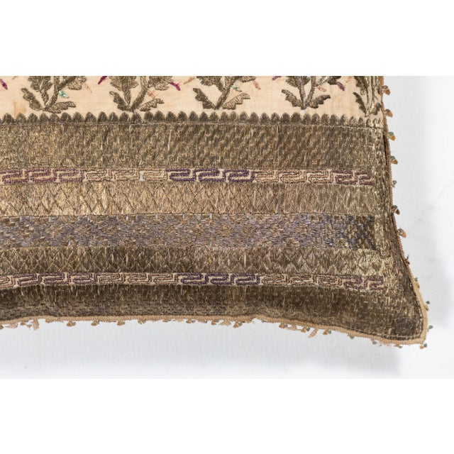 Renaissance Revival 19th Century Embroidery Pillow For Sale - Image 3 of 7