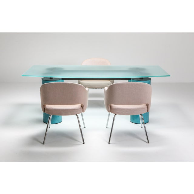 1970s 1970s Massimo Vignelli 'Serenissimo' Dining Table/Desk for Acerbis For Sale - Image 5 of 13