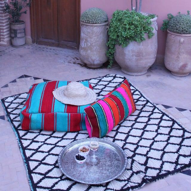 "Gina Moroccan Beni Ourain Rug - 3'7"" x 4'9"" - Image 5 of 5"