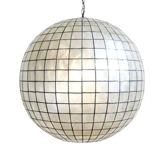 Capiz Shell Globe Lantern 30 For Sale