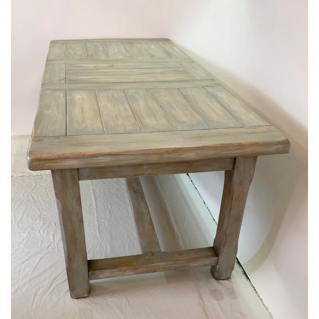 Farmhouse Christian Robert Farm Table With Two Leaves For Sale - Image 3 of 13