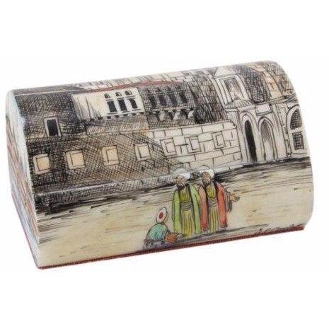 Turkish Hand-Painted Bone Box - Image 1 of 4