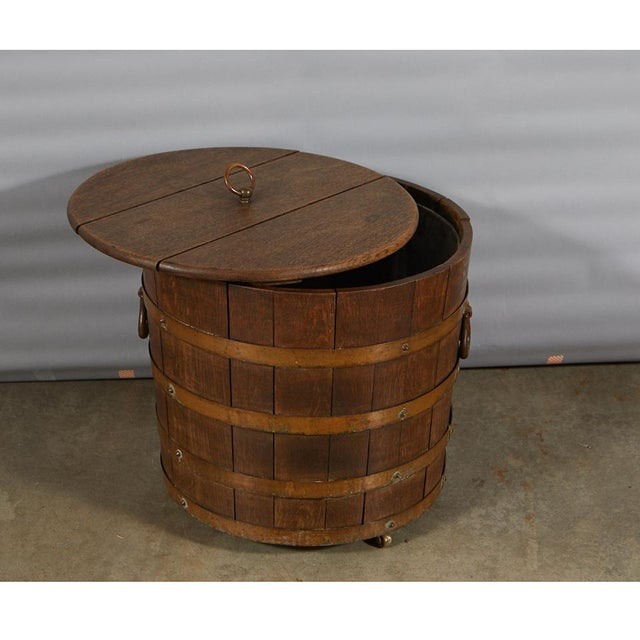 Early 20th Century R. A. Lister & Co. Ltd. Oak Bucket With Liner For Sale - Image 5 of 10