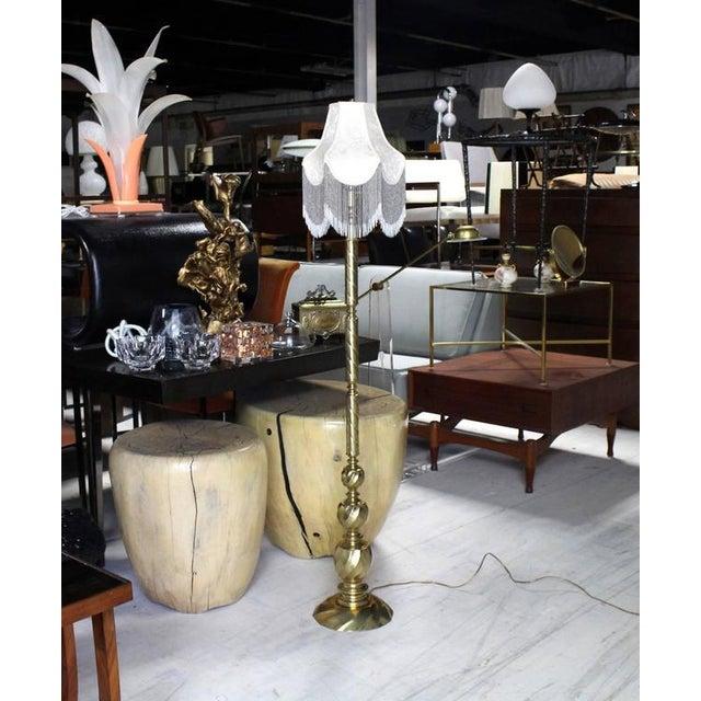 Nice decorative brass floor lamp.
