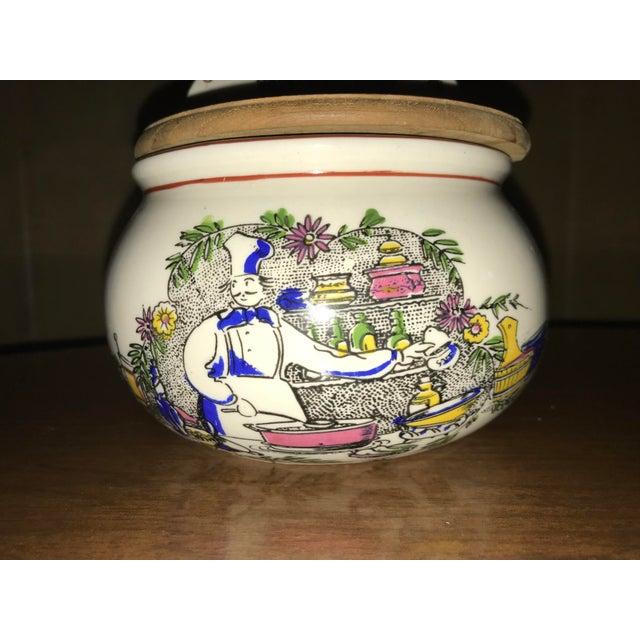 Green Vintage Ceramic French Salt Box For Sale - Image 8 of 11