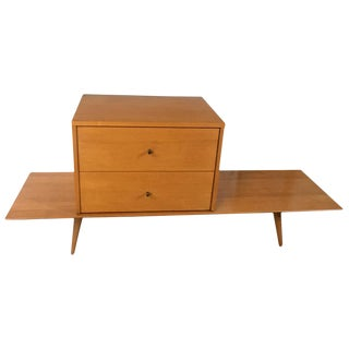 Mid-Century Paul McCobb Maple Bench & Cabinet For Sale
