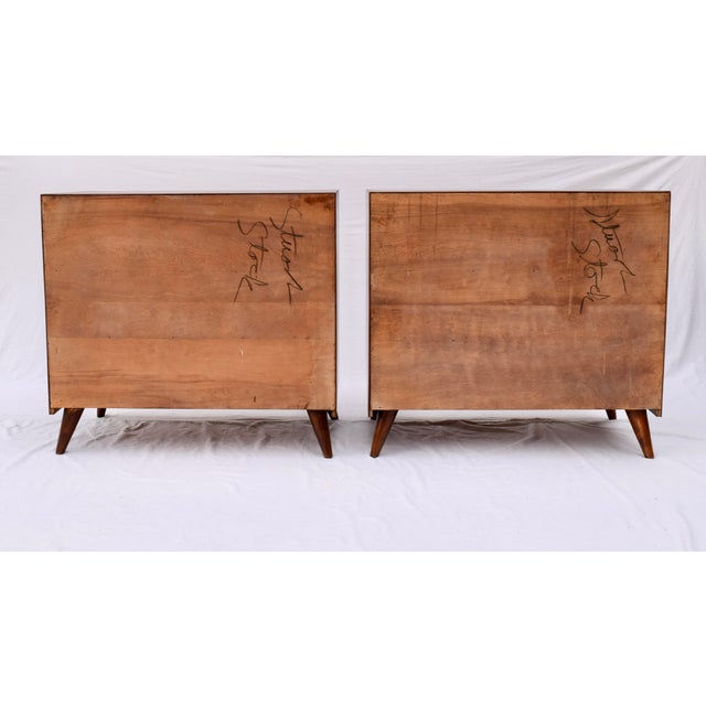 1950's John Stuart Bachelor Chests, Pair For Sale - Image 11 of 12