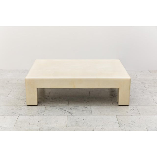Lacquered Goatskin Low Table, Usa For Sale In New York - Image 6 of 7