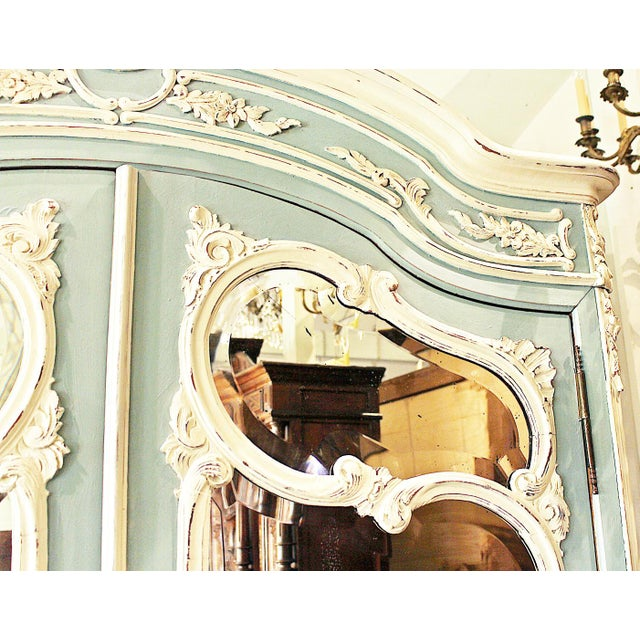 19th Century French Country Painted Armoire For Sale In West Palm - Image 6 of 13