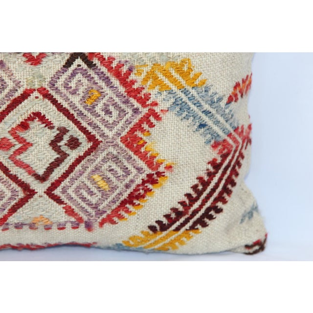 Turkish Handmade Kilim Pillow Cover - Image 5 of 11