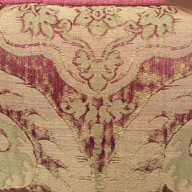 Antique Pink And Red Textile Pillows - Pair - Image 4 of 5