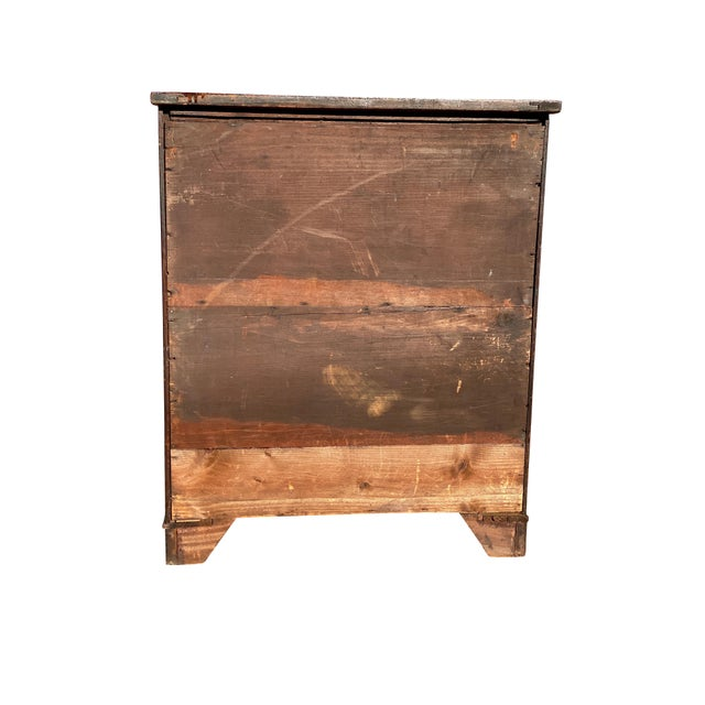 George III Fiddleback Mahogany Side Cabinet For Sale - Image 4 of 9