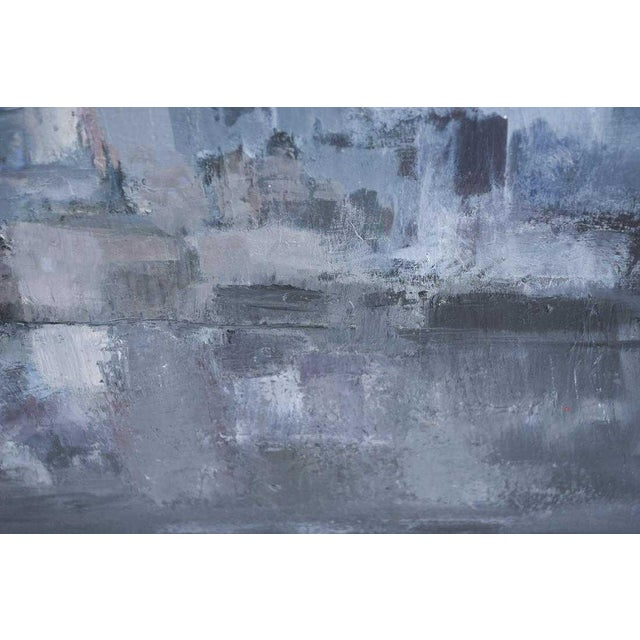 1980s Vintage Moody Painting Attributed to Spanish Artist Gloria Saez For Sale - Image 4 of 10