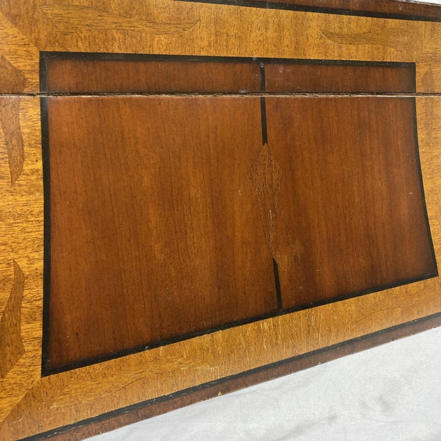 Maitland-Smith Inlaid Mahogany Box For Sale - Image 12 of 13