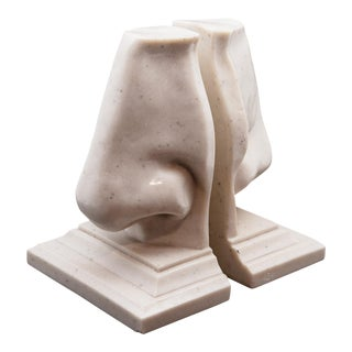 "Vintage ""Marble"" Resin Nose Bookends - A Pair For Sale"