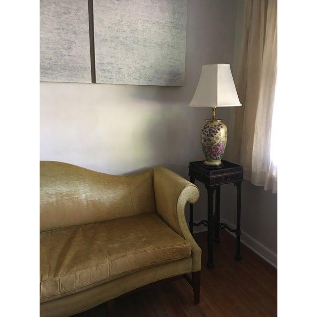Mid Century Modern Crushed Velvet Camelback Sofa For Sale In Savannah - Image 6 of 11