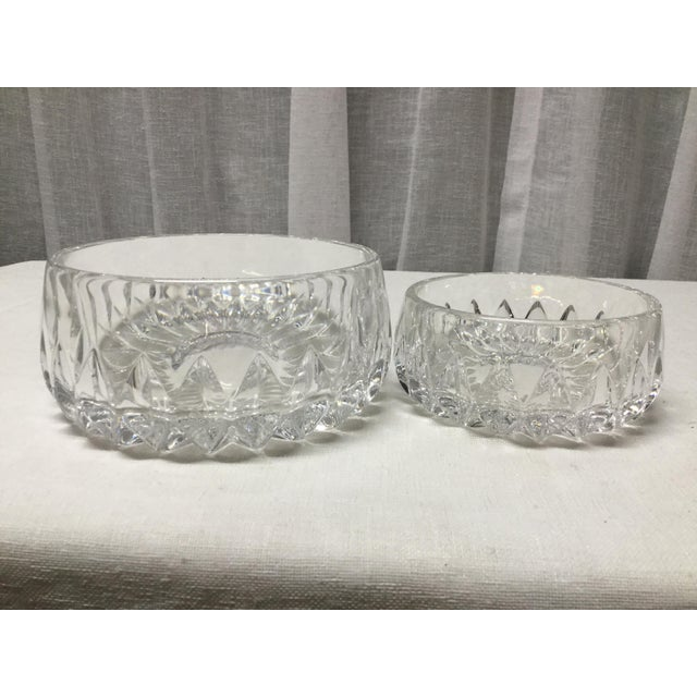 Mid 20th Century Lead Crystal Candy Dishes - a Pair For Sale - Image 4 of 5