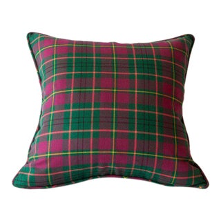 Taylor Modern Tartan Pillow For Sale