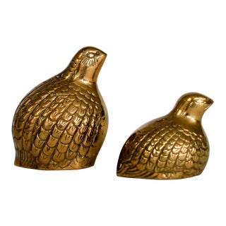 Mom & Baby Brass Quails For Sale