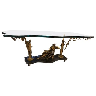French Art Nouveau or Art Deco Coffee Table For Sale