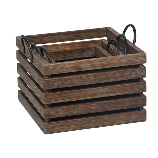 Asian Reclaimed Wood Crates (Set of Three) For Sale - Image 3 of 3