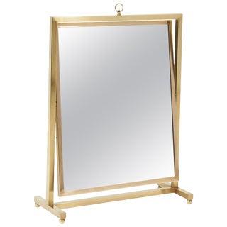 Adjustable Brass Vanity Mirror, Mid Century, 1960s For Sale