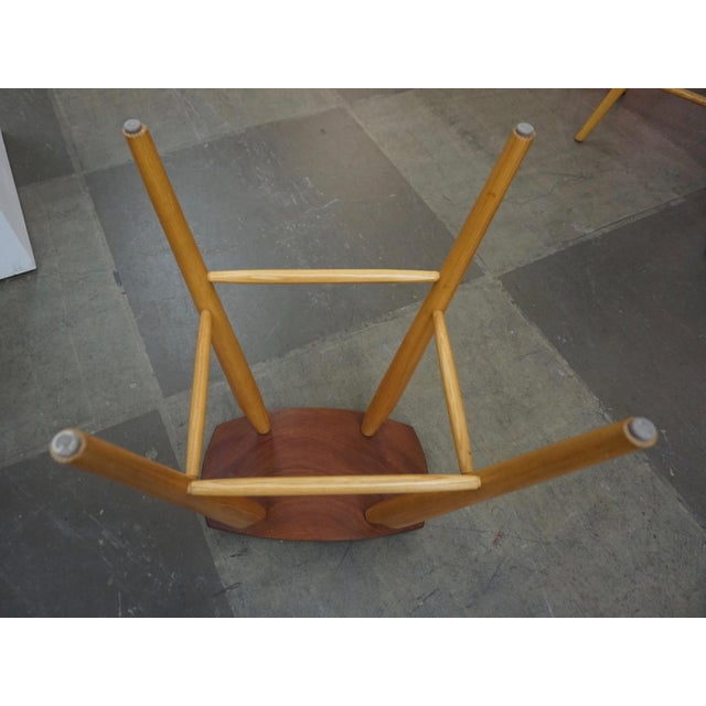 Set of 4 Mixed Wood Barstools For Sale In Palm Springs - Image 6 of 10