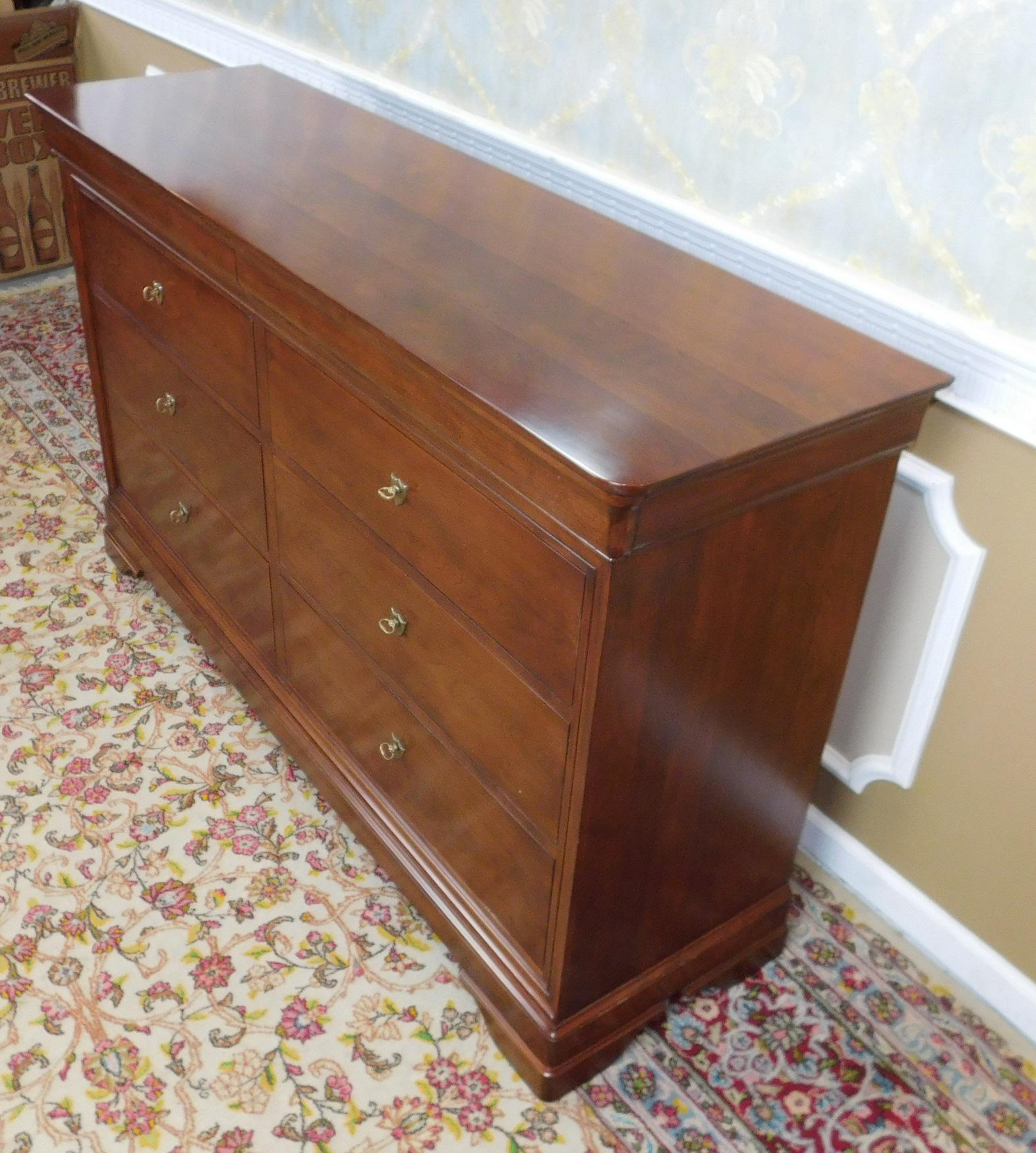 Stickley Furniture Solid Cherry Louis Philippe Style La Rochelle Dresser    Image 6 Of 11