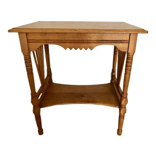 19th Century Victorian Oak Side Table For Sale