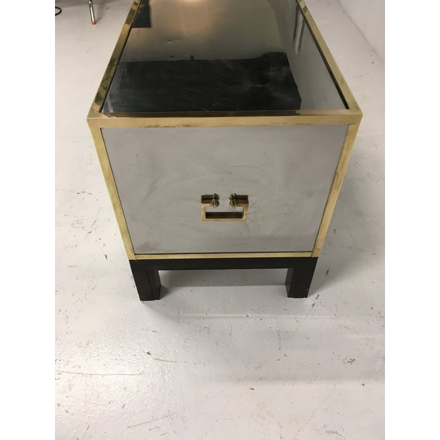Campaign Sarreid Gold and Silver Chest on Ebony Base For Sale - Image 3 of 8