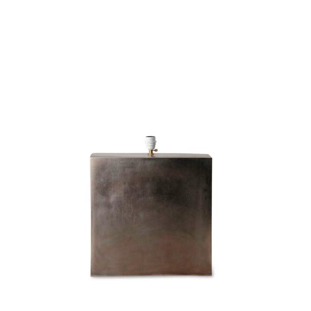 Platinum Glazed Ceramic Table Lamp - Image 3 of 7