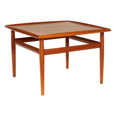 1960s Danish Teak Side Table For Sale