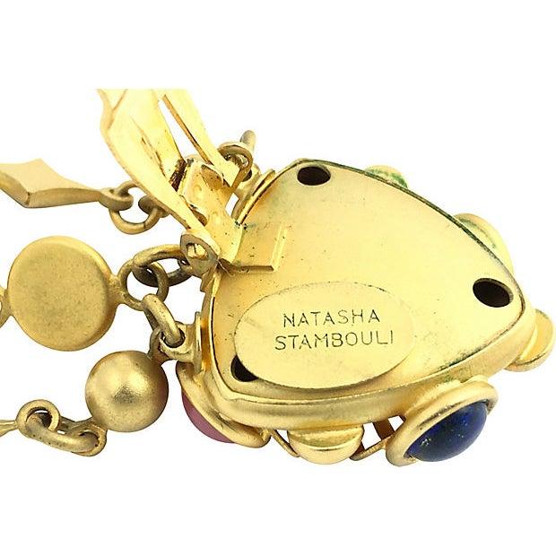 Brass Natasha Stambouli Chandelier Earrings For Sale - Image 7 of 8