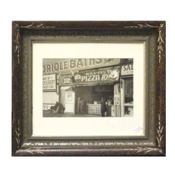 This is newly matted and mounted in an old frame. The back has transparent material showing George Daniell's signature on...