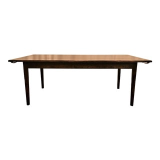 English Oak Farm Table With Leaves. For Sale