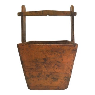 1920s Vintage Chinese Water Bucket For Sale