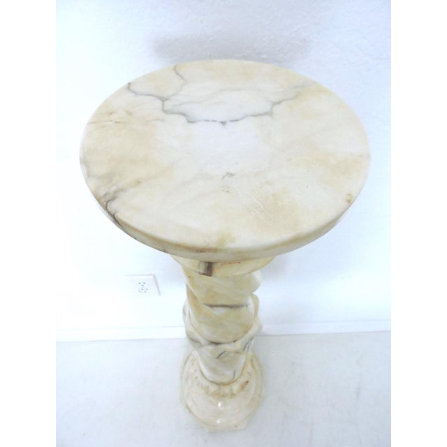 Classical Vintage Two Piece Alabaster Pedestal, Pillar or Column For Sale In Tampa - Image 6 of 6