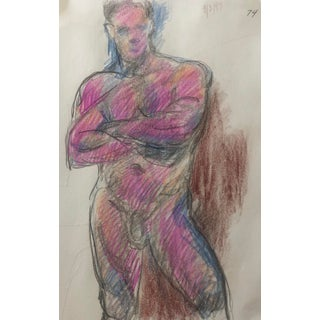 Standing Male Nude by James Bone 1990s For Sale
