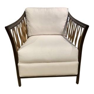 Modern White Palecek Chair For Sale