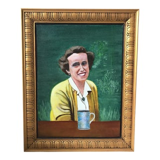 Framed Portrait Painting of Woman For Sale