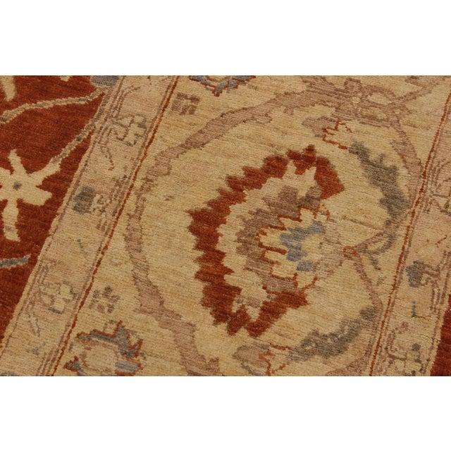 Textile Kafkaz Peshawar Barbar Rust/Gold Wool Rug -8'11 X 12'9 For Sale - Image 7 of 8