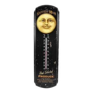 Vintage Style Harvest Moon Thermometer