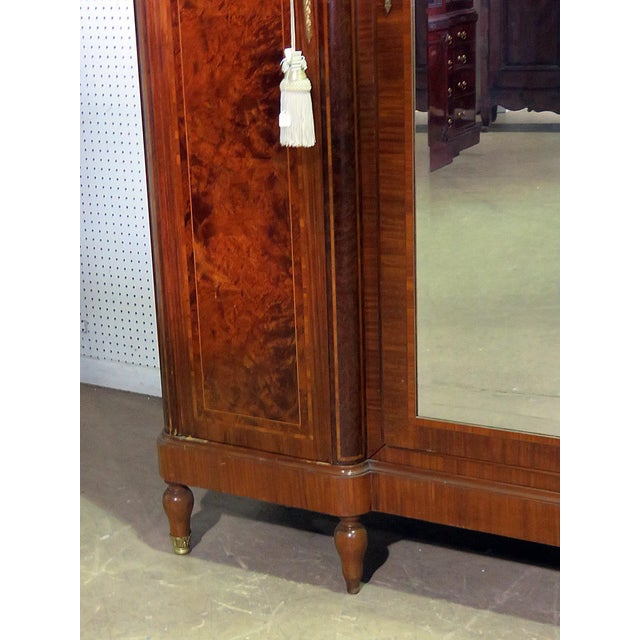 Metal Regency Style Inlaid Armoire For Sale - Image 7 of 13