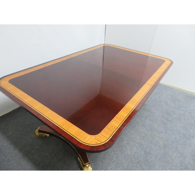 Regency Baker Furniture Company Banded Mahogany Dining Table For Sale In Philadelphia - Image 6 of 12