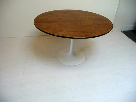 This Saarinen Style Round Tulip Table Is From Burke. It Has A Great Solid
