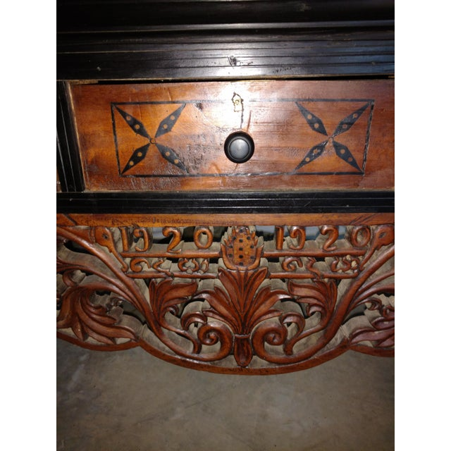 Pettagama 1920 Mahogany and Ebony Dowry Chest For Sale In Sacramento - Image 6 of 12
