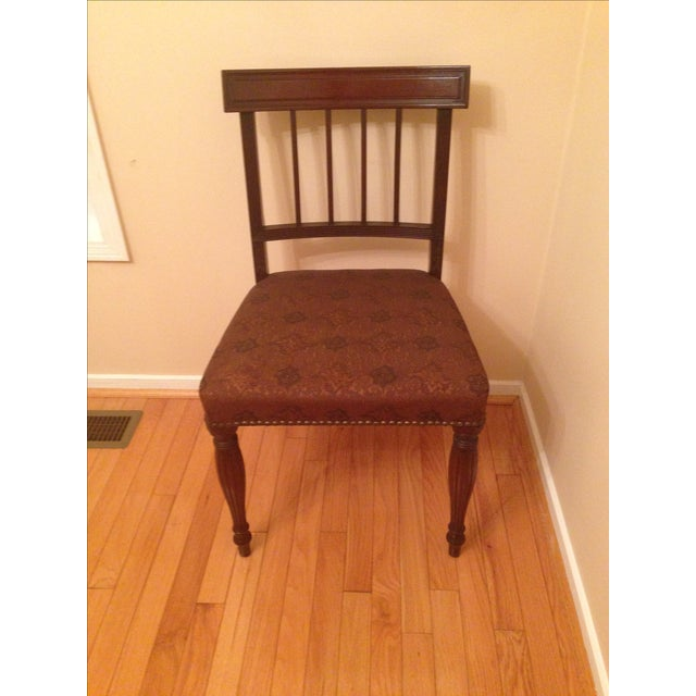 Cherry Wood Side Chairs - A Pair For Sale - Image 4 of 8